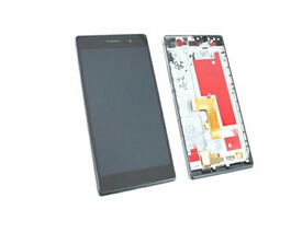 Huawei Ascend P7 LCD Display With Touch Screen Digitizer With Frame assembly replacement Black/ white color<br><br>Aliexpress