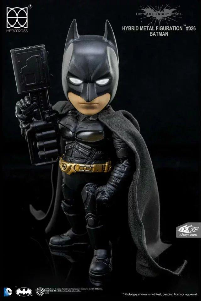 DC Comics The Dark Knight Rises Batman Hybrid Metal Figuration #026 Batman with LED Light Action Figure Collectible Model Toy<br>