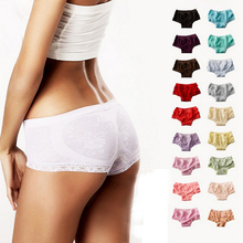 Sale Women Sexy Soft Seamless Lace Trim Bamboo Panties Briefs Multi Colors(China)