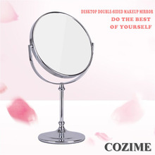 1 pcs New Double Sided High Definition Desktop Mirror European Style 3 Times Magnify Fodable Makeup Mirror Small Round Mirror(China)