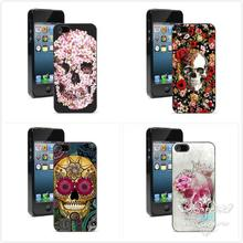 Flowers Crystal Skull Head phone Case for Samsung Galaxy S3 S4 S4 mini S5 S5 mini S6 S6 edge S7 S7 edge cover hard plastic coque