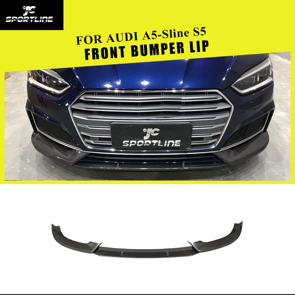 Carbon Fiber Car Front Bumper Lip Splitter for A5 S-Line B9 2017-2018 US
