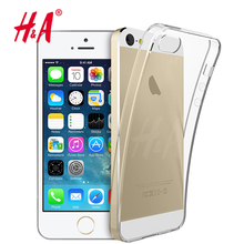 H&A Luxury Transparent Silicone Case For iPhone 5 5S SE Phone Back Soft TPU Coque Cover For iPhone 5s SE Cases Protect shell(China)