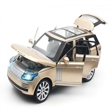 1:24 Range Rover Diecast Metal Car Model Alloy Six-door Sound light Toys Gifts Collections