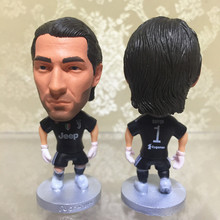 Soccerwe 2018 Season 2.55 Inches Height Football Dolls Serie A JUV Player 1 Gianluigi Buffon Figurine Christmas Gift Black(China)
