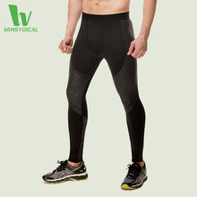 VANSYDICAL Leggings Men Compression Running Tights For Sports Football Basketball Training Fitness Bodybuilding Sportswear Black