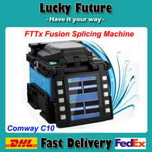 Multi-language USA Comway C10 Core to Core Fiber Optic Fusion Splicer for FTTx ,Lan , Backbone, Factories