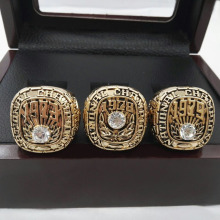 Factory Direct Sale Good Quality 1973 1978 1979  Alabama Crimson Tide National Championship Replica Ring With Wooden Boxes