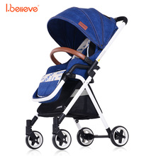 I.believe I-S012 High landscape Portable lightweight 5 point harnes baby strollers Foldable baby pram For 6-36 month baby(China)