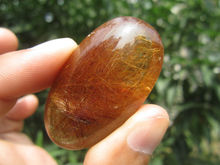 only one!!!!     32g(160 ct) Natural Hair Rutilated Quartz Crystal Pendant Cab China YARC022