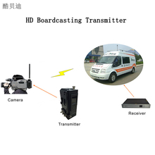 8W RF Power HD COFDM Wireless Transmitter and Receiver Live Broadcasting Video Audio Transmitter HDMI / HD-SDI AV Sender(China)