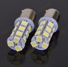 2PCS HotSale P21W 18 LED 5050 SMD 1156 BA15s 18smd 18led 18 smd White Car Bulb Stop Tail Brake Light Rear Lamp DC 12V