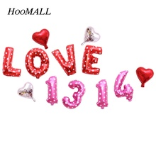 Hoomall 1 Set Wedding Birthday Valentines LOVE Foil Balloon Party Decoration for Home Bar School Kids Lovers New Year Gift Toys(China)