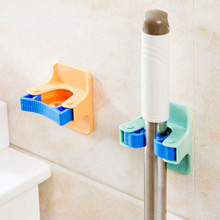 Broom Mop Holder Bathroom Hanger Wall Mounted Self Adhesive Storage Rack Clip Organizer Garden Tool Home Garage Closet Hook New(China)