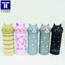 Cat head Thermos Cup  250ml Stainless Steel Vacuum Cup termos office Thermal Mug  Insulated Tumbler Birthday gift small portble