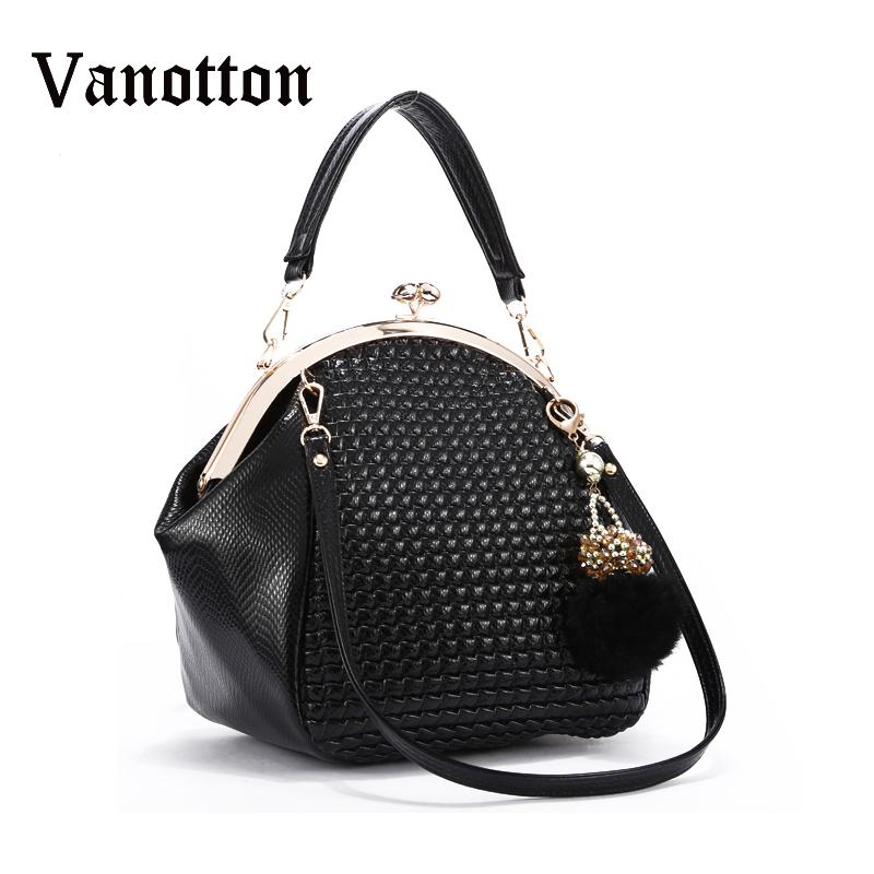 Fashion Women Leather Handbags High Quality Vintage Shoulder Bags Famous Brand Ladies Tote Bags Frame Zippered Female Handbags<br>