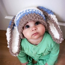 Newborn Baby Hats Boy Girl Kids Crochet Beanie Dog Pattern Hat Photo Prop Cap QL