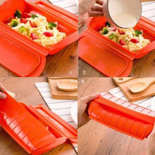 Silicone Microwave Oven Food Steamer Kitchen Cooking Bowl Lunch Box Steam Case Home Kitchen Tools ZQ892506(China)