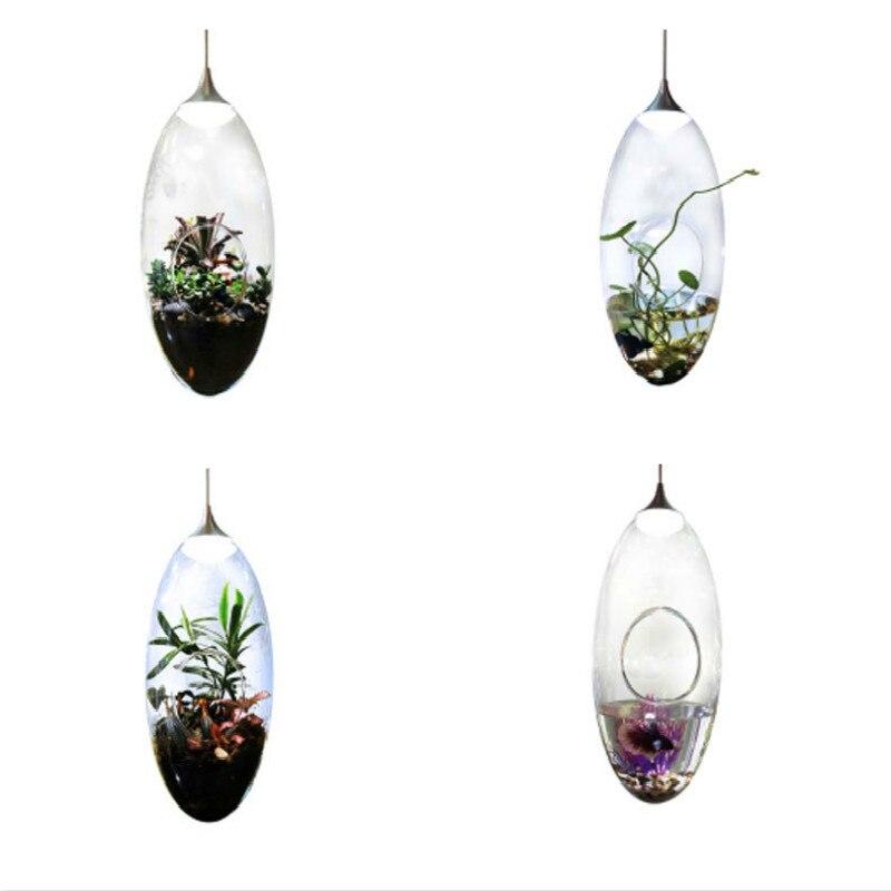 New Creative Modern Fashion DIY Eco Plant Pot Hydroponics Led 3w Pendant Light For Dining Room Living Room Bar Deco H 33cm 1949<br><br>Aliexpress
