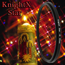KnightX Star Filter 52MM 58MM 67MM 6 Point  for Nikon canon t3i D5200 D5100 D3200 D3100 D3300 D5300 D5500 100D 1200D 600D 700D