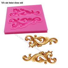 lace pattern Border silicone mold fondant mold cake decorating tools gumpaste mold chocolate sugar art displays  F0882