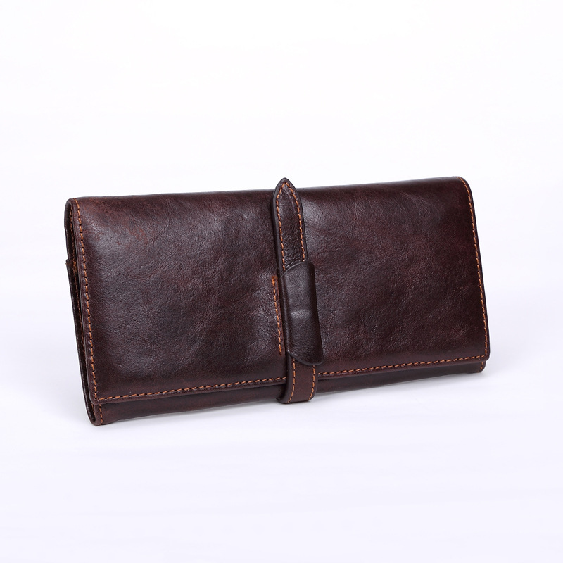 Fashion Man Classic Wallet Crazy Horse Genuine Leather Wallet Male Long Style Card Holder Clutch Bags<br><br>Aliexpress