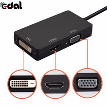 EDAL 3 in1 Mini Display Port DP To HDMI VGA DVI Display Port Cable Adapter Converter for Macbook Pro Microsoft Surface Pro 2/3(China)