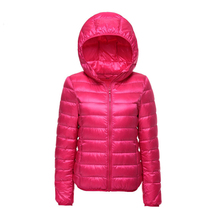 Ultra Light Down Jacket Women Winter Jacket Hooded Warm Short Coats Quilted Solid Outwear(China)