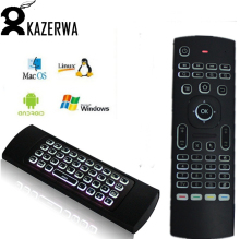 Newest MX3 Air Mouse Backlight MX3 Wireless Keyboard 2.4G IR Learning Fly Air Mouse Backlit For Android TV Box