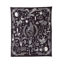 Fashion Tapestry Black White Wall Tapestry Beach Towel Beach Cushion Travelling Cape Outdoor Camping Pad Home Background Cloth(China)