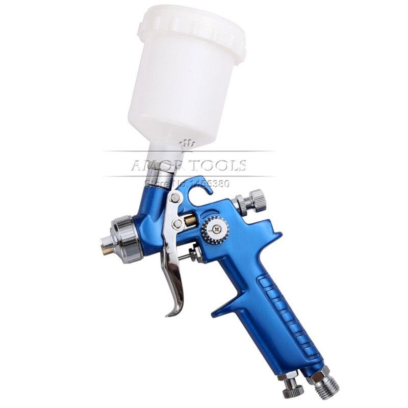 Mini Gravity Air Spray Gun Nozzle1.0mm 125ml Cup Paint Sprayer  Airbrush Professional Painting Tool Kit<br><br>Aliexpress