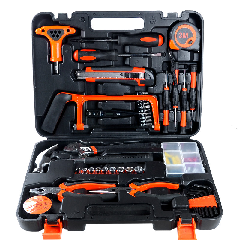 household 82pcs combo tools multifunction hardware toolbox house decoration electrician carpentry repair hand tools set