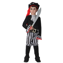 M L XL Halloween Costume Pirate Costume For Boys Pirate Child Boy Carnival Costumes Kids Movie Cosplay Costumes 5 Pcs