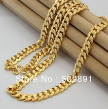 NE1562 New Fashion 8mm Gold Chain Necklace Choker Males Jewelry 24k Vacuum Plating For Anniversary Accessories(China)