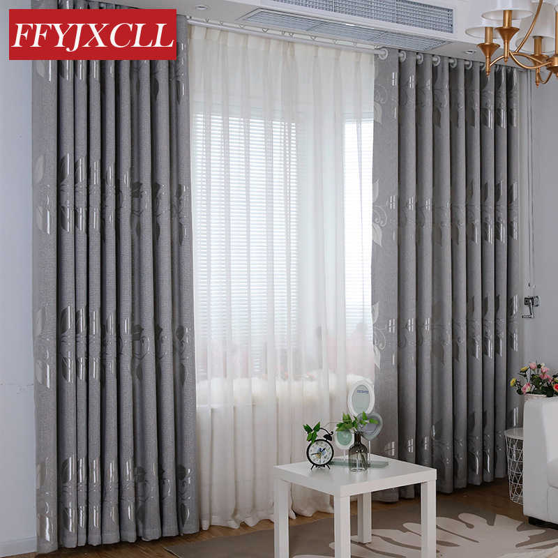 Chinese Style 85% Blackout Curtains Drapery for Living Room Bedroom Window Tulle Fabrics for Kitchen Jacquard Curtains cortina