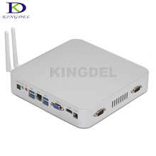 Kingdel Newest Fanless HTPC Kodi Computer Intel Celeron N3150 Quad Core Mini PC Windows 10 VGA HDMI COM USB3.0 Optical Computer