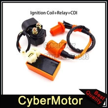 Racing Ignition Coil Starter Relay 6 Pin AC CDI For GY6 50cc 125cc 150cc Engine Scooter Moped ATV Quad Taotao Sunl