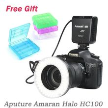 Aputure Amaran Halo HN100 LED Macro Ring flash Light for Nikon D800 D600 D610 D7100 D90 D7200 D610 D5200 D750 D810,Pentax
