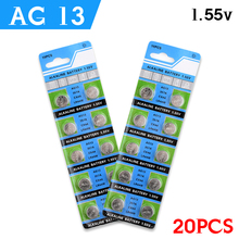 20 x 1.5V AG13 Battery LR44 L1154 RW82 RW42 SR1154 SP76 A76 357A ag13 pila lr44 SR44 AG 13 Alkaline Button Cell Coin Battery(China)