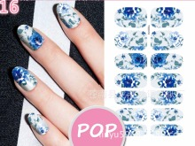 2017 new arrives water transfer nail sticker decals korea style  flower world mixed  DIY nail art decoration tools 16-20