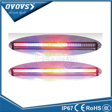 "OVOVS 12volt high lumens remote control 288w 50"" muti color led light bar for off road"