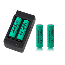 2500mAh 14500 Batteries US Dual Charger Dock Universal Green 3.7V Li-ion Rechargeable Battery Baterias - Ruby's shop store