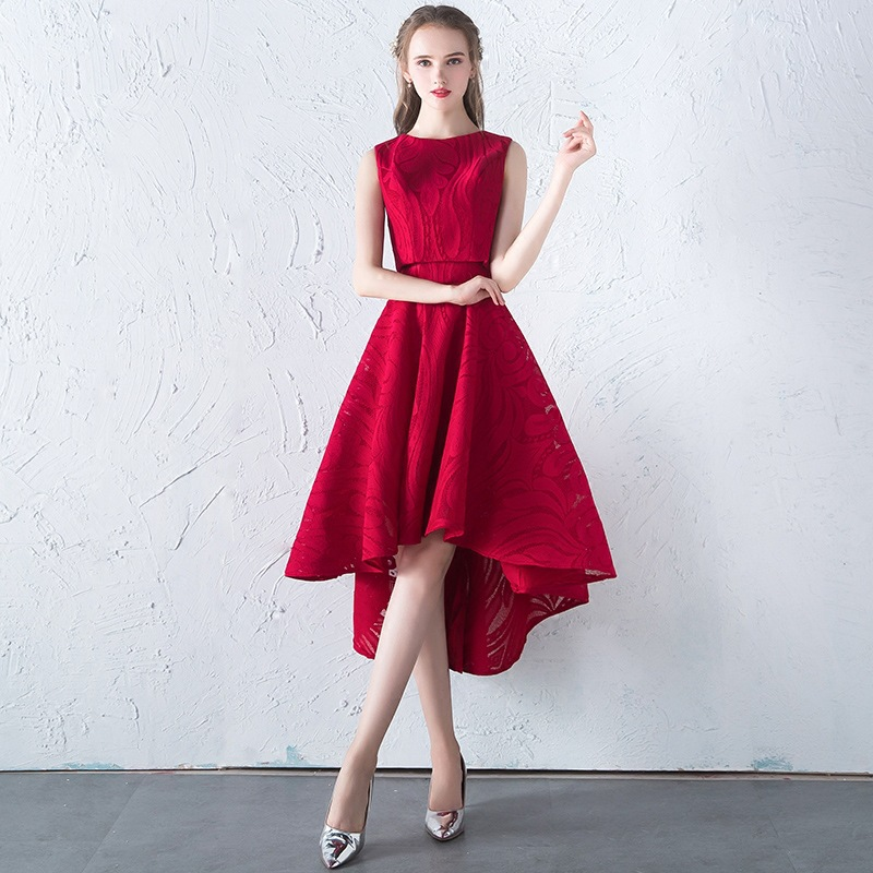 2019 Burgundy Cocktail Dresses Sexy A-line Lace 2 Pieces Short Party Gowns Cheap Vestido Coctel