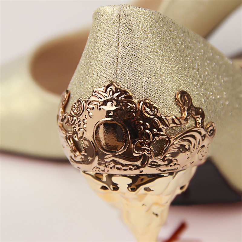 Sexy High Heels Shoes Woman Pumps Red Gold Silver High Heels Shoes Woman Ladies Wedding Party Shoes 2018 16