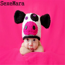 Baby Hat Children Baby Caps Cotton Unisex Girls Boys Hats Newborn Photography Props Candy Color Beanies Accessories Cows Cap