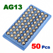 Newest Hot Sale 50Pcs 357A A76 303 LR44 SR44SW SP76 L1154 RW82 RW42 AG13 Alkaline Cell Button Battery Long Lasting