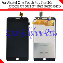 Black Full LCD DIsplay + Touch Screen Digitizer Assembly For Alcatel One Touch Pop Star 3G OT5022 OT 5022 OT-5022 5022X 5022D(China)