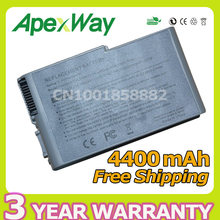 Apexway 4400mAh 6 cells laptop battery for Dell Inspiron 500m 505m 510m 600m Series 0R160 0X217 310-4482 310-5195 312-0063
