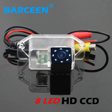 hd ccd image sensor 8 led higest night vision car rearview camera shockproof suitable for  Mitsubishi Lancer