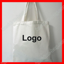 (200 pieces/lot) size 30x40 White canvas tote cotton shopping bag with custom logo printed(China)